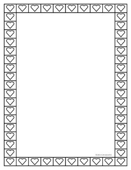 A Simple B W Heart Border Created In Microsoft Publisher And Saved As A Png File Feel Free To Use It However You Wish Heart Border Valentine Heart Border