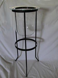 glass candle holders for pillar candles | 1021504453649050 Partylite 3 Wick Pillar Candle Holder Seville 25 Tall