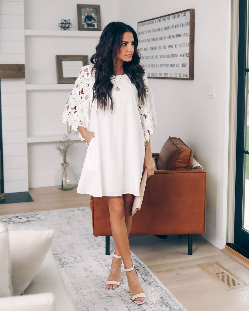 ebf78f97a541 Click to shop our website or follow us at @VICIDOLLS for all the latest  updates + fashion inspo! Dancing On Air Pocketed Dress - Off White