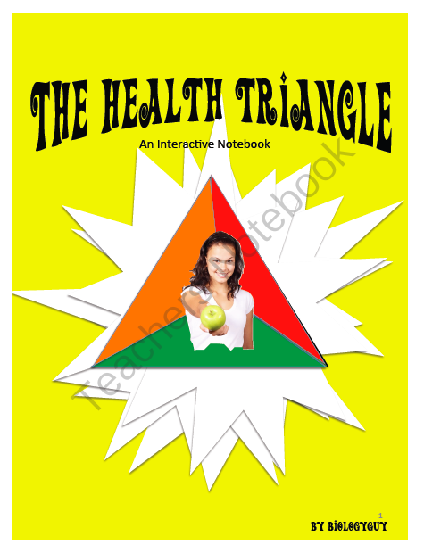 Health Triangle Interactive Notebook From The Science
