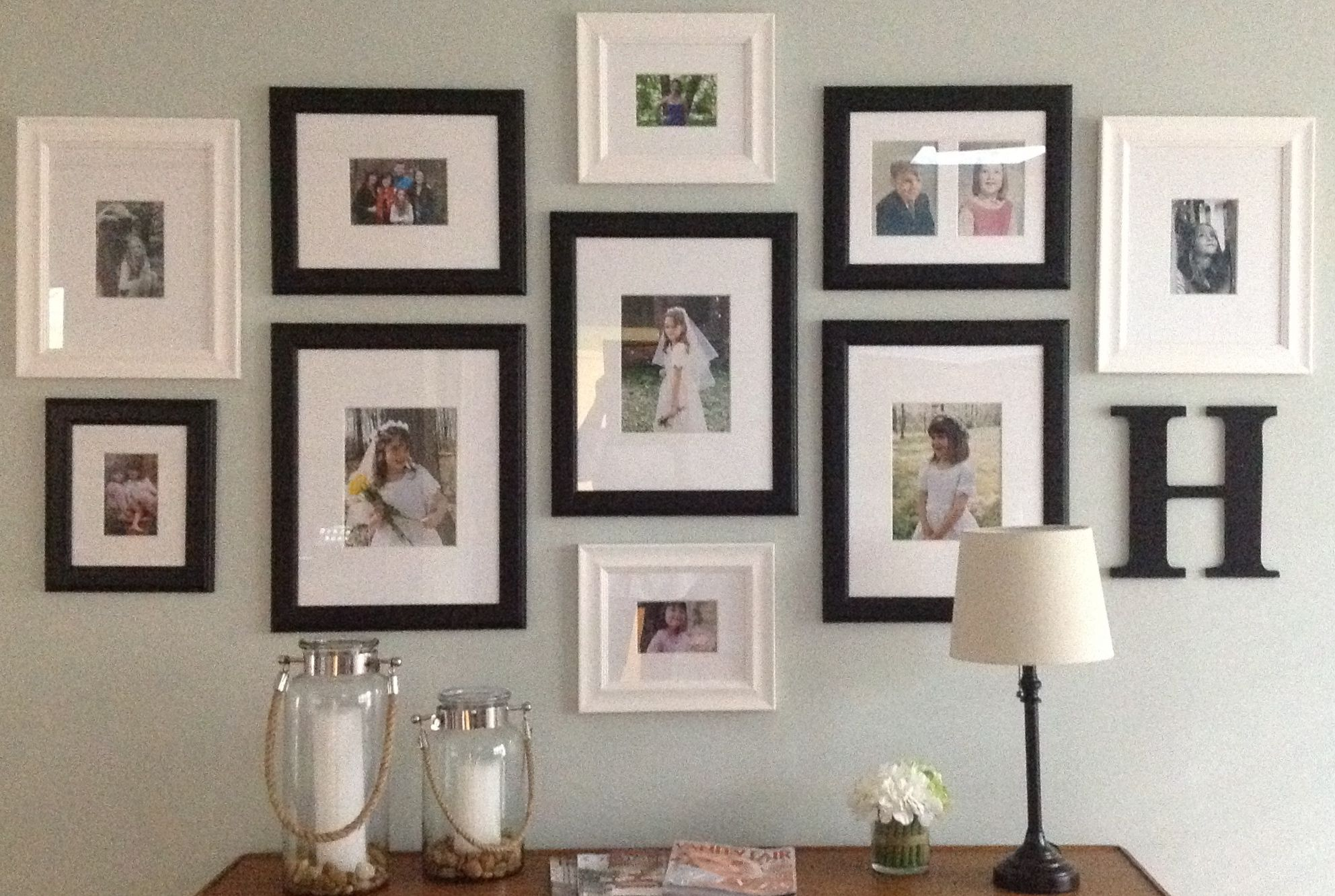 Mixing Black And White Gallery Frames Frames On Wall Wall Decor
