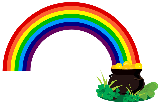 grab this free clipart to celebrate the summer rainbow and pot of rh pinterest com