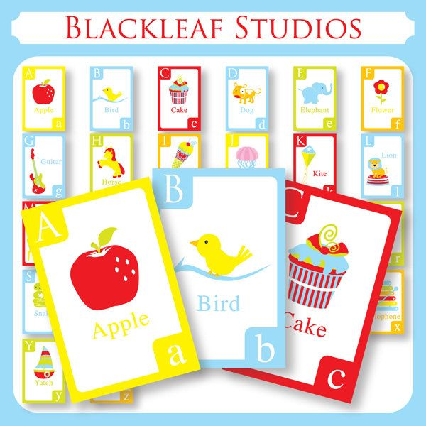 Alphabet Flash Cards - DIY Printable for toddlers, primary ...