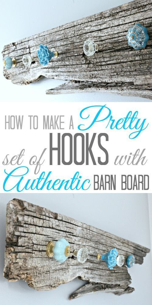 Photo of How to make a pretty set of Hooks with Authentic Barn Board