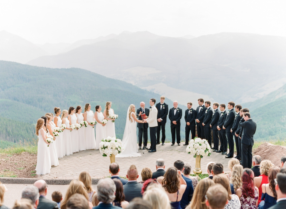 Rachael Mark A Vail Colorado Mountain Wedding At Hotel Talisa Vail Wedding Deck Wedding Vail Mountain Wedding Colorado Green Wedding Inspiration