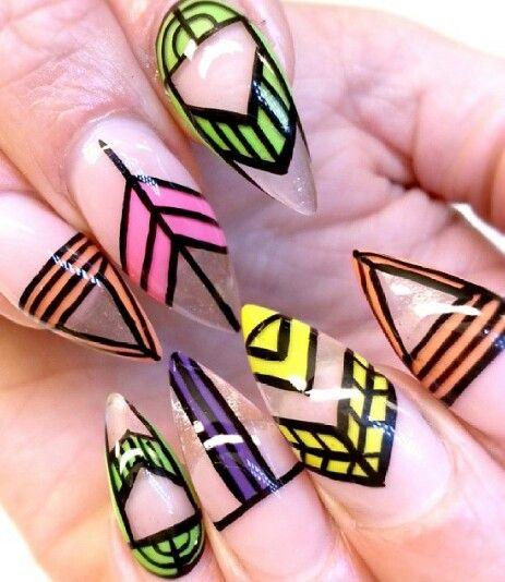 Green Rainbow Trabsoarent Color Nails Design Sveanaglar Nails