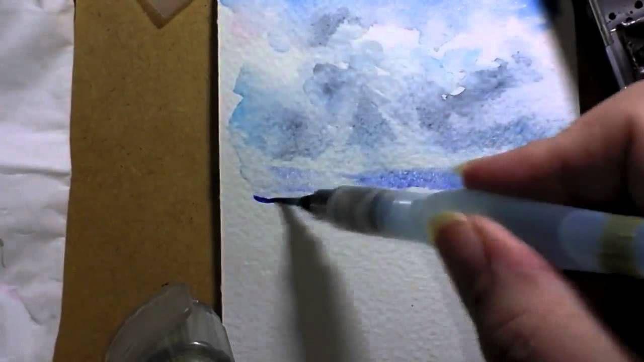 Un Ciel La Va Comme Je Te Pousse Par Manu Videos De Peinture