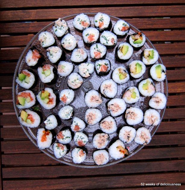 Sushia ja srirachaa » 52 Weeks of Deliciousness