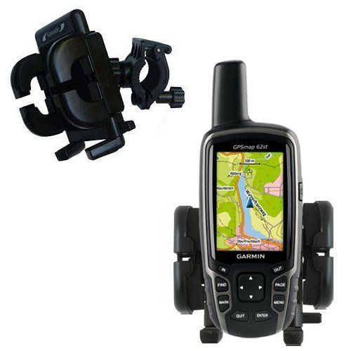 Gomadic Bike Handlebar Holder Mount System for the Garmin GPSMap 62 - Unique Holder, Lifetime Warranty by Gomadic. $24.92. Cyclists far and near are finding that you no longer need to have your Garmin GPSMap 62 stored away in your backpack (or saddlebag) when out on a trek. With the Gomadic Handlebar Mounting system, you can always have constant visibility and easy access to your device at all times. With a custom designed mounting base that will easily attach to you...