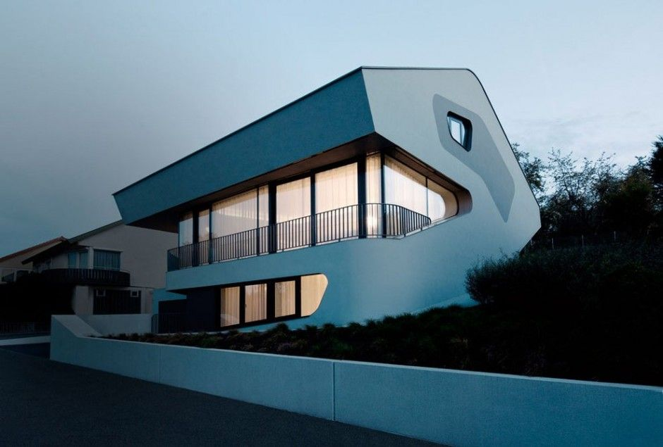 Architecture Extraordinary Design OLS House Sustainable And Futuristic  Architecture In Stuttgart: OLS House