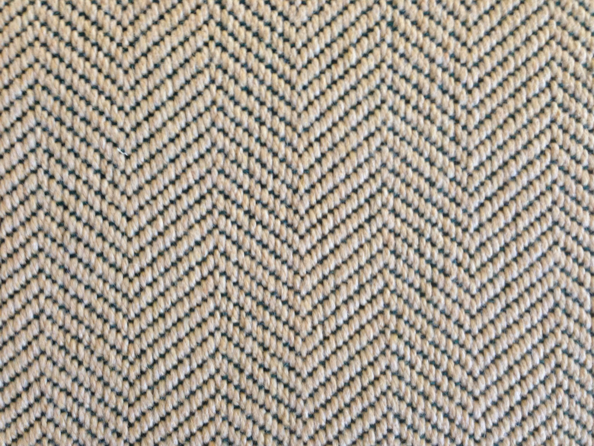 This Is A Wool Carpet Remnant With A Herringbone Pattern Www