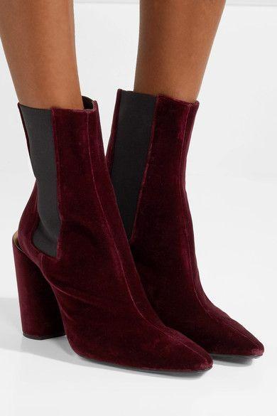 Jil Sander Velvet Ankle Boots PH12La4