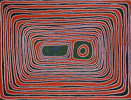Jimmy Mawukura Mulgra Nerrimah, Kumpujarti 1, 2003, acrylic on canvas, 122x91cm. Coo-ee Aboriginal Art Gallery, Bondi Beach.