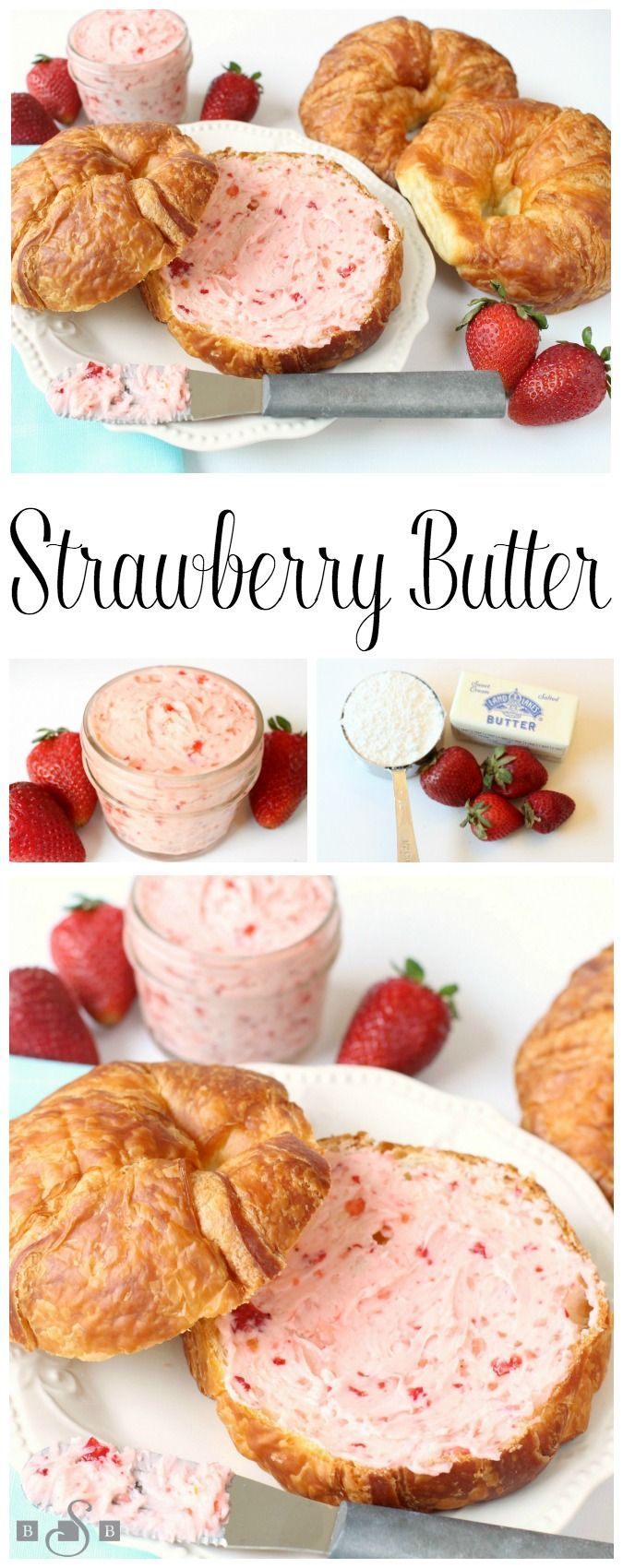 STRAWBERRY BUTTER - Butter with a Side of Bread