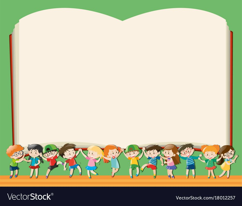 Background Template With Kids Holding Big Book Illustration Download A Free Preview Or H Kids Background Cartoon Drawing For Kids Powerpoint Background Design
