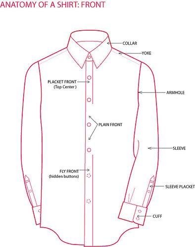 Anatomy of a Dress Shirt | clothing infographics | Pinterest ...