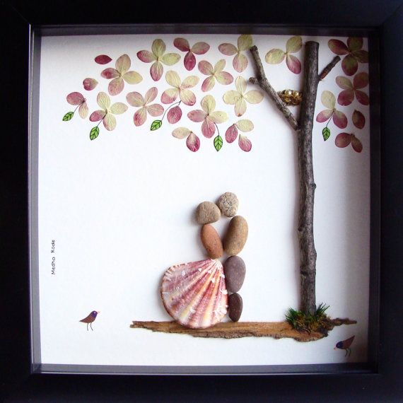 Gift Pebble Art-Unique Engagement Gift-Personalized von MedhaRode