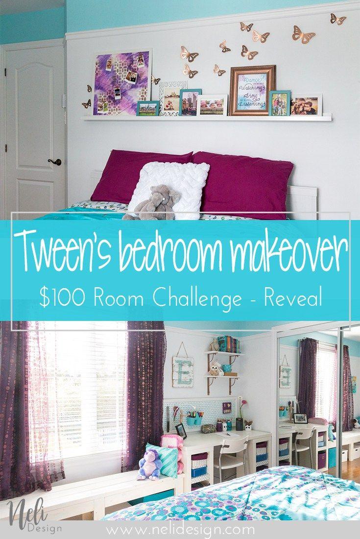 Tweenus bedroom reveal room challenge week challenge
