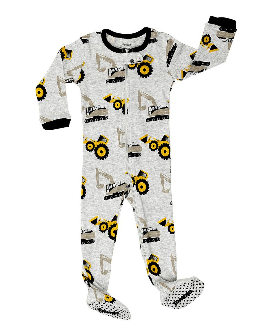 889e6a552 Love this Heather Gray Tractor Footie - Infant