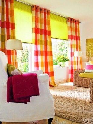 Schon Wohnzimmer Bunte Vorhange Design Home