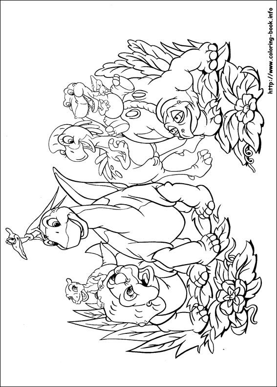 The Land Before Time coloring picture | Crafts for Jaxen | Pinterest ...