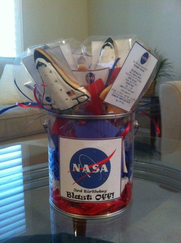 space shuttle cookie pops astronaut training birthday