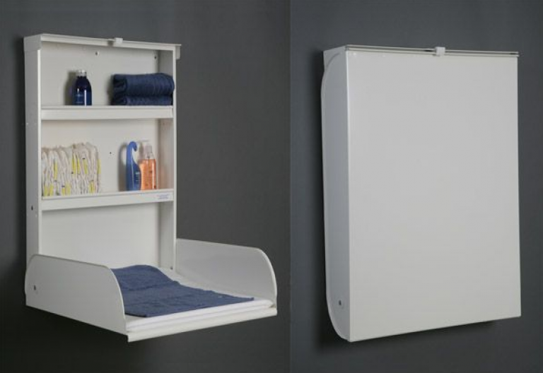 Wall Mounted Baby Changing Table Moveis Dobraveis Decoracao De