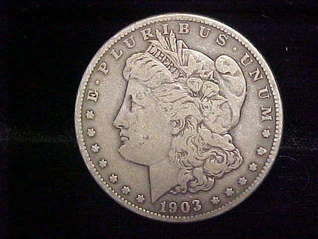 1903 S Morgan Silver Dollar 1 Better Date Original Uncleaned Fine
