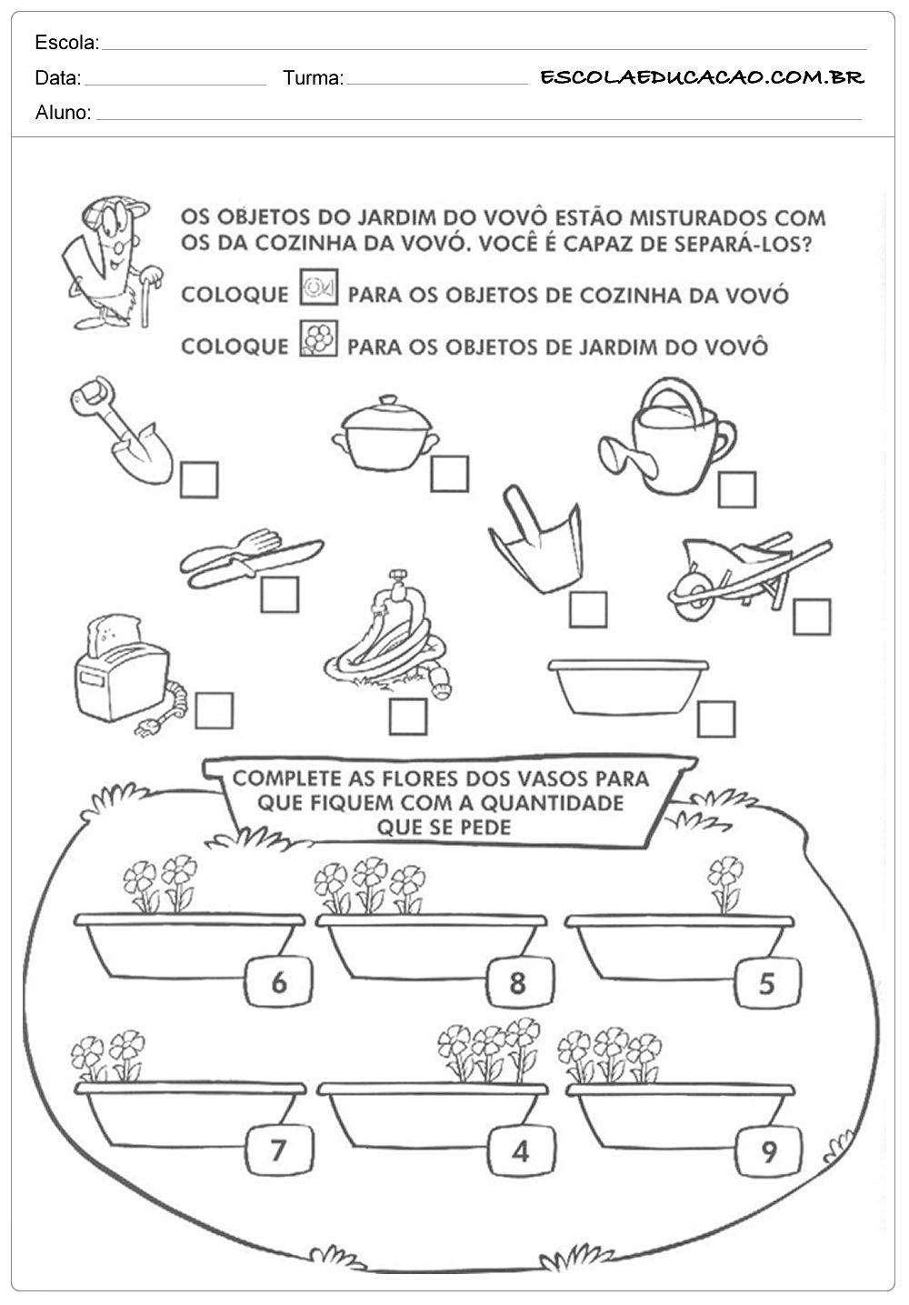 Atividades De Classificacao E Seriacao Atividades Educacao
