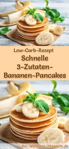 low carb 3 zutaten bananen pancakes fr hst ck kohlenhydratarmes fr hst ck bananen pancakes. Black Bedroom Furniture Sets. Home Design Ideas