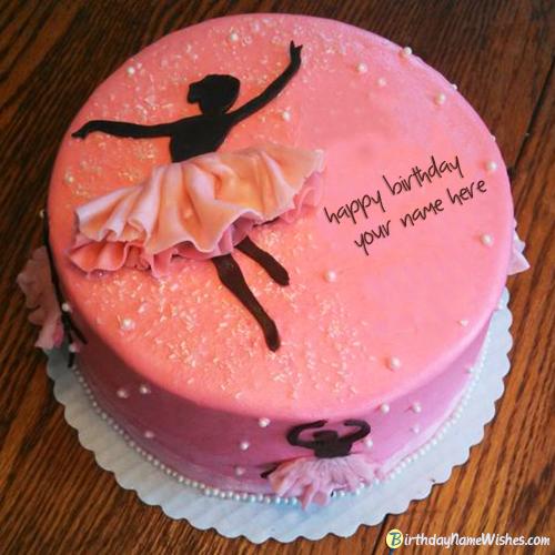 Download Beautiful Dancing Girl Name Birthday Cake Generator
