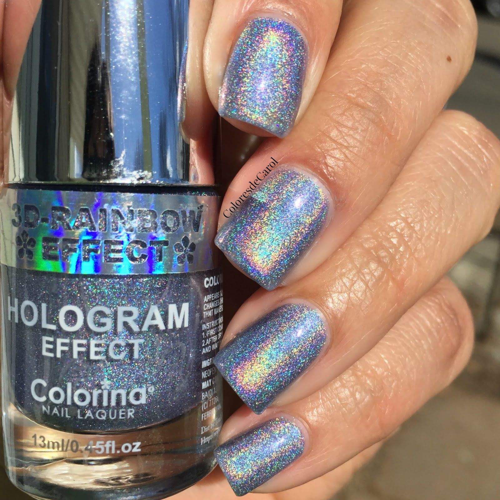 Colores De Carol Colorina Rainbow Effect Hologram Nail Polshes Swatches And Review