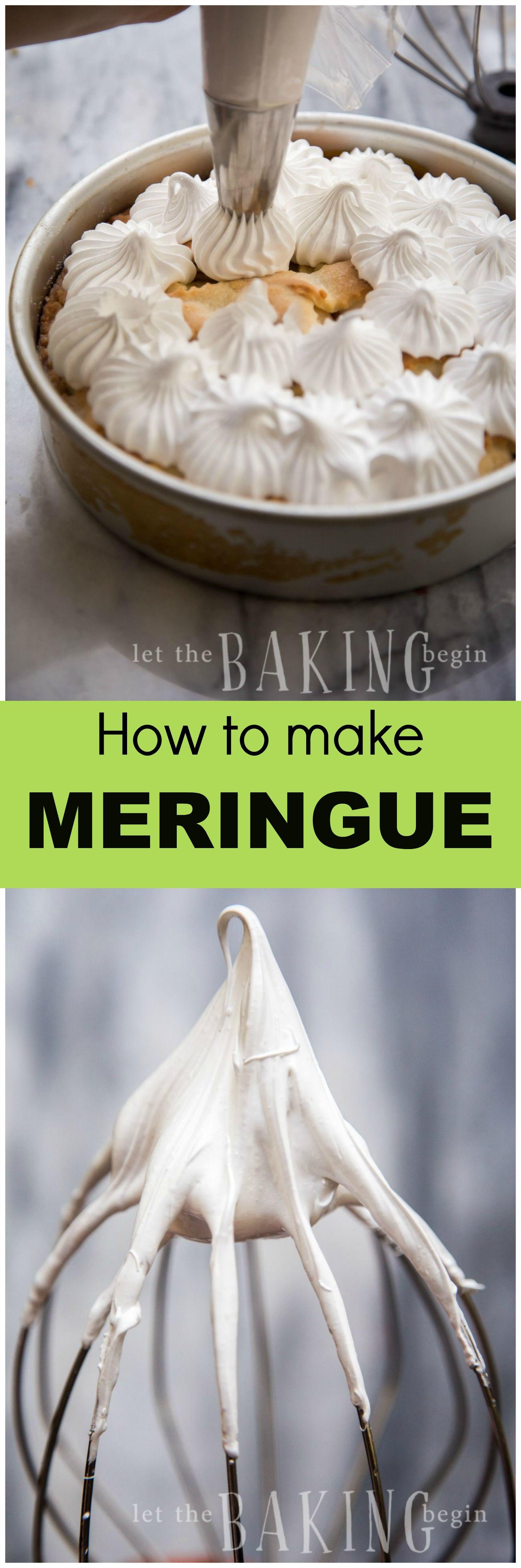 Easy 2 ingredient meringue for baking incredible desserts | Let the