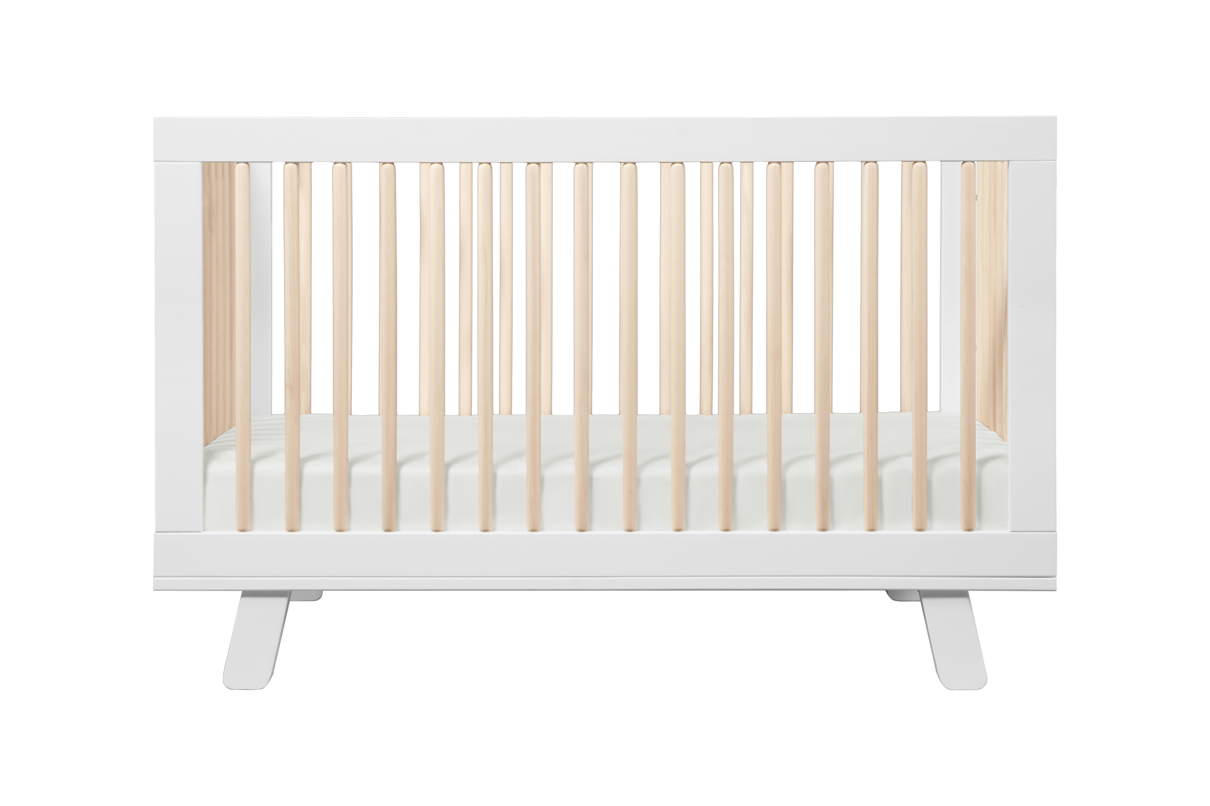 Babyletto Hudson 3 In 1 Convertible Crib White Washed Cribs