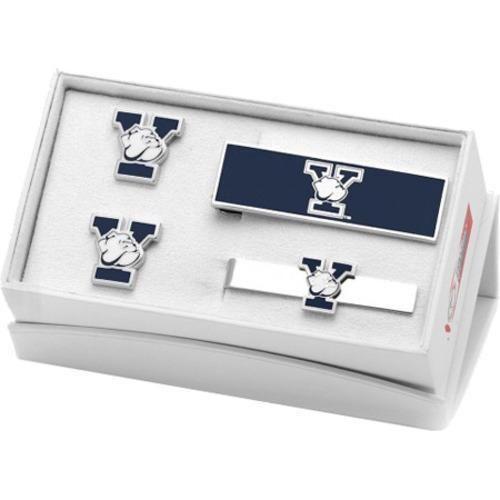 Men's Cufflinks Inc Yale University Bulldogs 3-Piece Gift Set Blue (One Size)