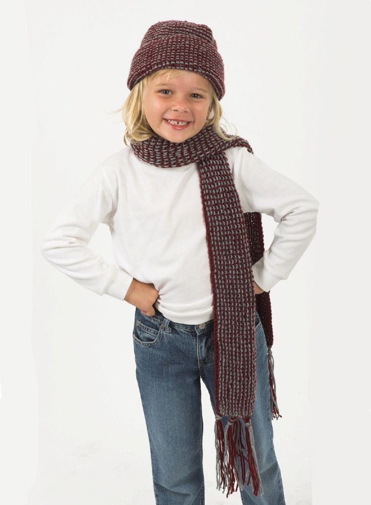 Kids Scarf In Plymouth Yarn Download The Free Pattern From