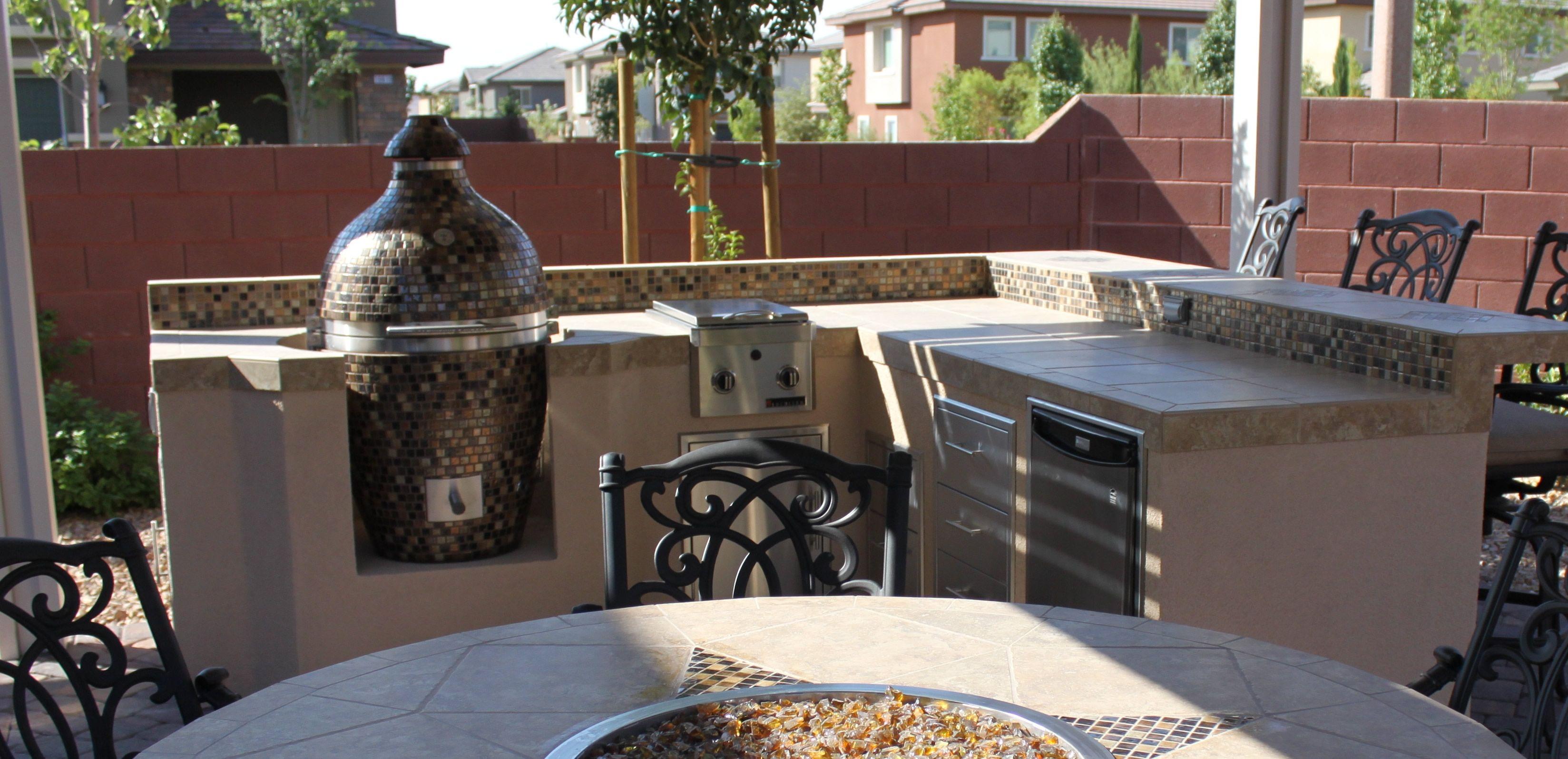 Outdoor Kitchen Barbecue Grills Eisen Gartenmobel Outdoor Kuche Arbeitsplatte