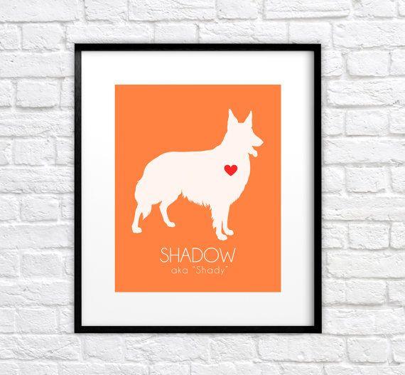 Custom Pet Art, German Shepherd Dog Portrait