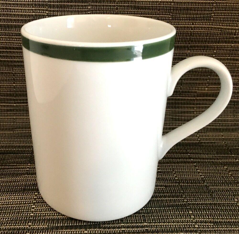 1 williams sonoma brasserie green band coffee mug 12 oz6