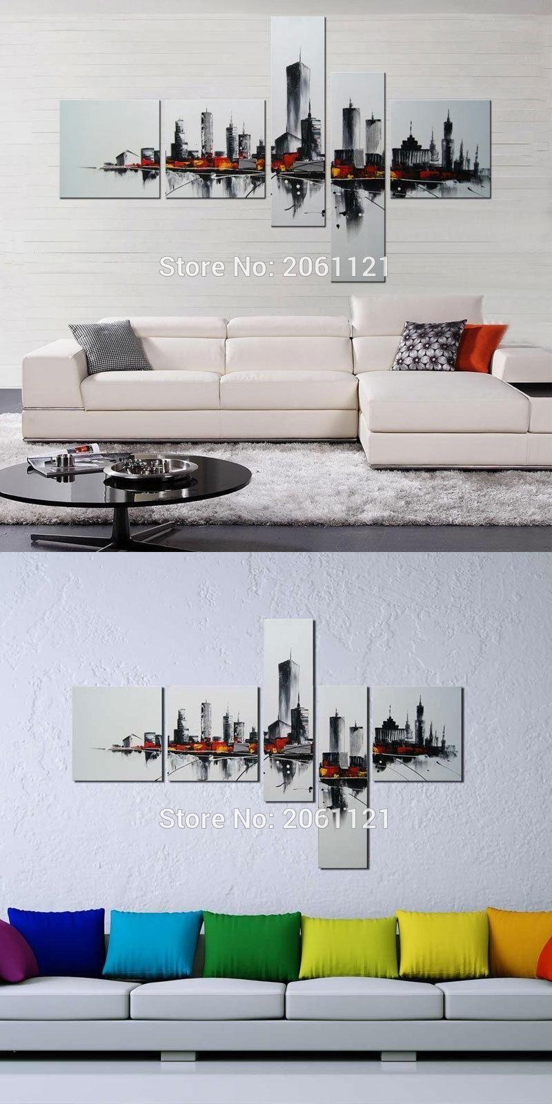 Visit to buy handmade modern home decor white black wall art