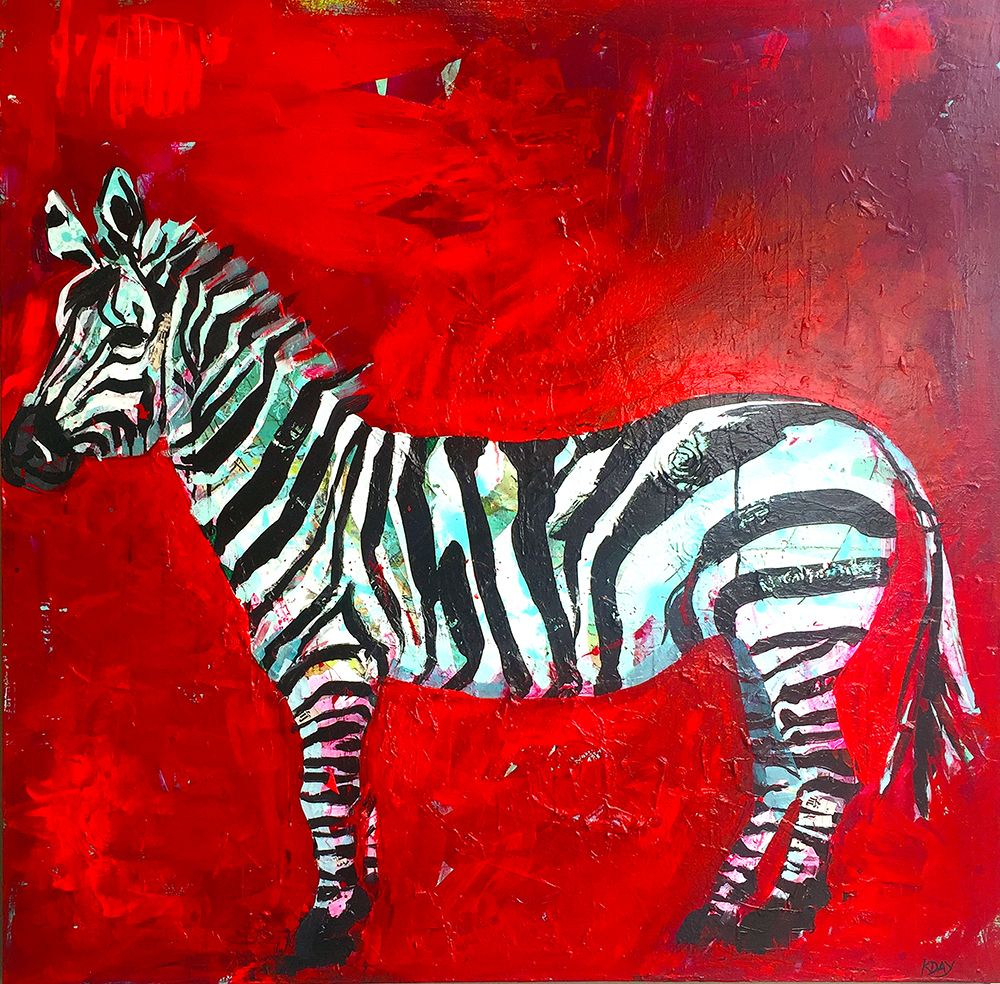 Zebra Mixed Media Zebra Painting On Canvas C Kellie Day Zebra Art Zebra Painting Dramatic Background