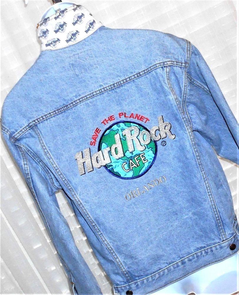 Vintage Hard Rock Cafe Orlando Save The Planet Blue Jean Jacket Size Small Hardrockcafe Jeanjacket Blue Jean Jacket Planet Blue Denim Coat Jacket [ 1000 x 811 Pixel ]