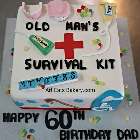 Image Result For Custom 60th Birthday Cake For A Man With Images
