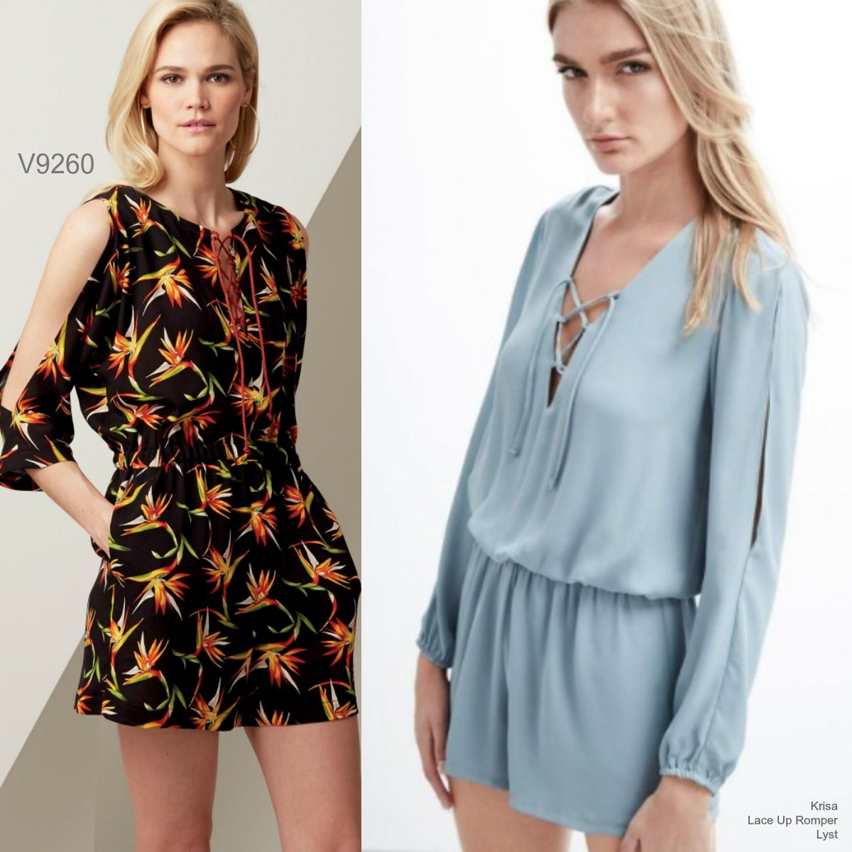 Sew the Look: Vogue Patterns V9260 lace up romper sewing pattern ...