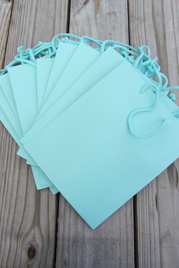 10 Pack Robins Egg Blue Gift Bags 8x4x10 By Twrapit On Etsy 56