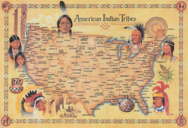 Black Indian Tribes In America Black Indian Tribes In America - Map us indian nations