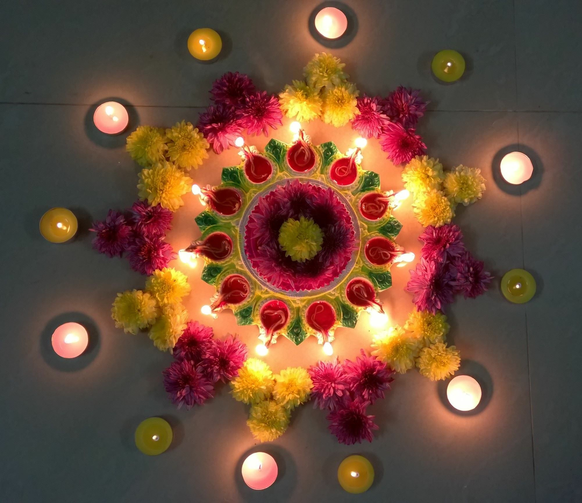 Beautiful n unique flower design for festival Diwali