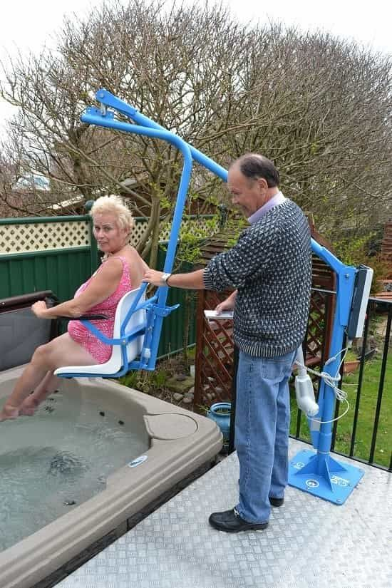 Hot Tub access hoist installed by Dolphin Mobility Hoists | jacuzzi ...