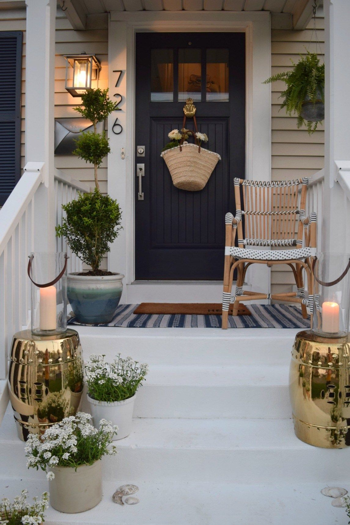 Front Porch Ideas And Designing The Outdoors Nesting With Grace Summer Front Porches Small Porch Decorating Front Porch Design