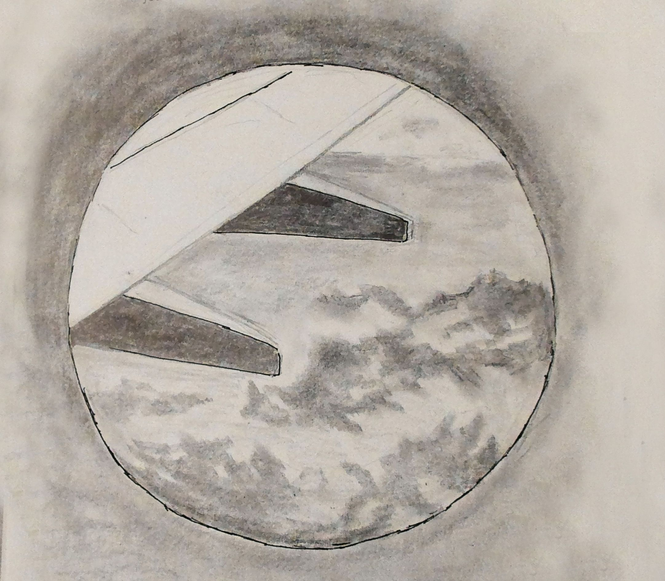 View From An Airplane Window Cool Art Drawings Cool Art Drawings